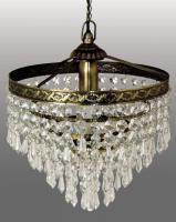 LUSTRE CRISTAL »NOUVEAU« DECORATION LAMPE