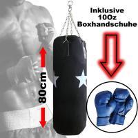 80cm SAC DE BOXE + Gants de boxe »NEUF« TRES RESISTANT